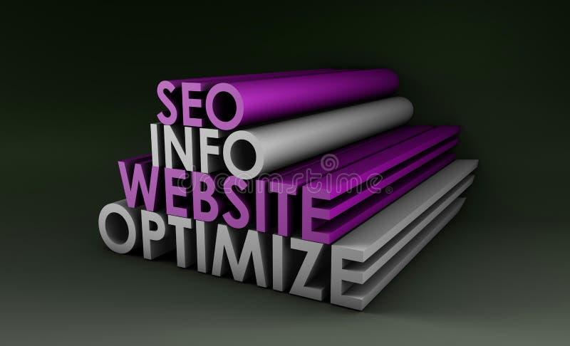 Optimização do Search Engine ilustração do vetor