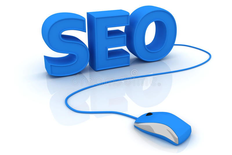Optimización del Search Engine de SEO ilustración del vector