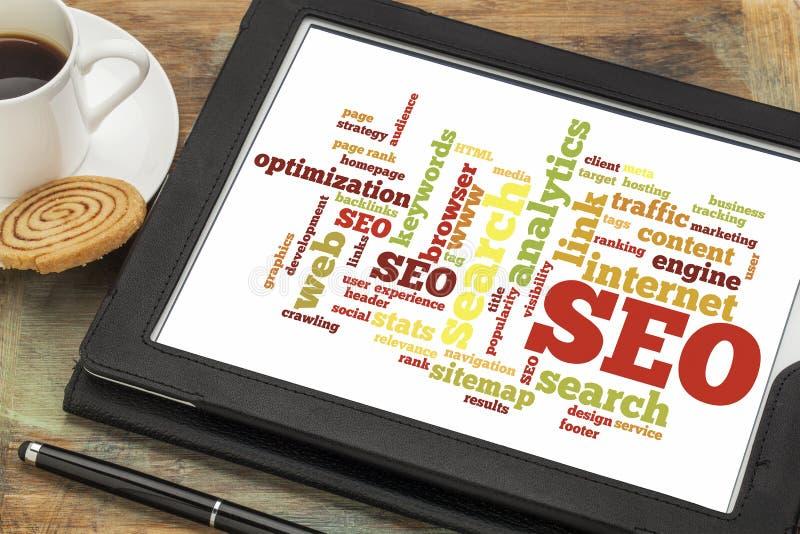 Optimización del Search Engine - SEO fotos de archivo