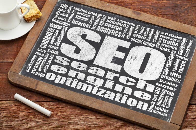 Optimización del Search Engine - SEO imagenes de archivo