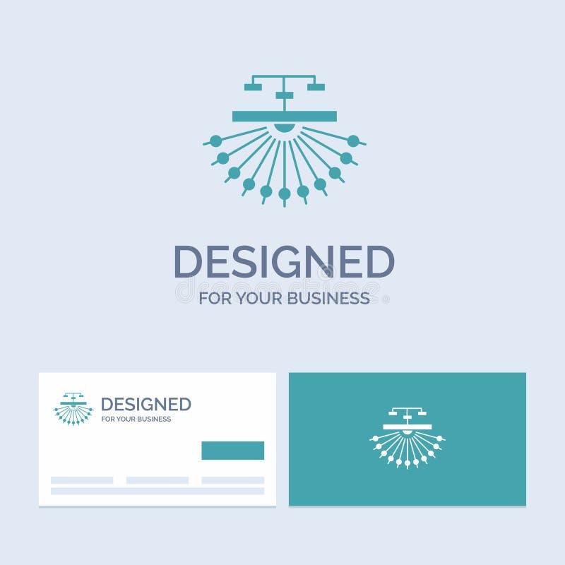 optimización, sitio, sitio, estructura, negocio Logo Glyph Icon Symbol de la web para su negocio Tarjetas de visita de la turques stock de ilustración