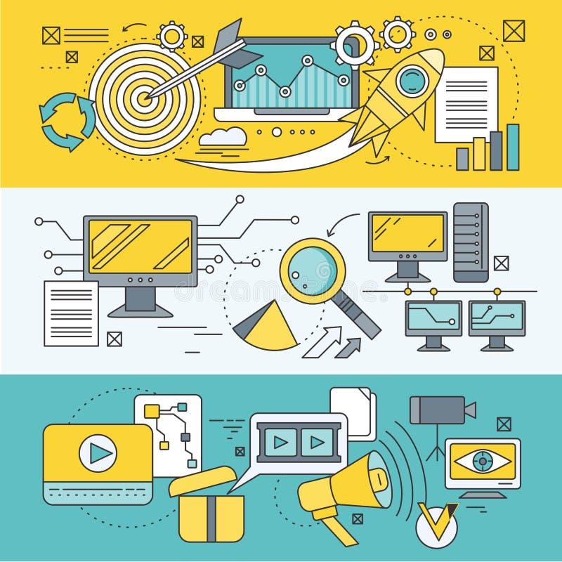 Optimization för begreppssökandemotor stock illustrationer