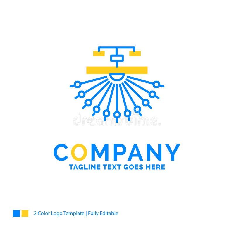 Optimization, site, site, structure, Web Blue Yellow Business Lo. Go template. Creative Design Template Place for Tagline stock illustration
