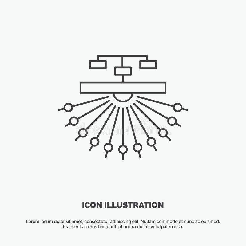 Optimization, site, site, structure, Web Icon. Line vector gray symbol for UI and UX, website or mobile application. Vector EPS10 Abstract Template background stock illustration