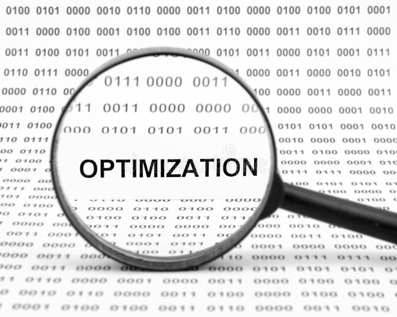 Optimizationbegrepp royaltyfria bilder