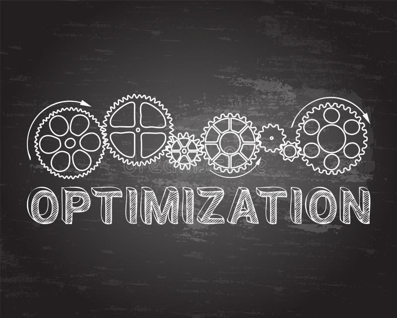 Optimizationsvart tavla vektor illustrationer