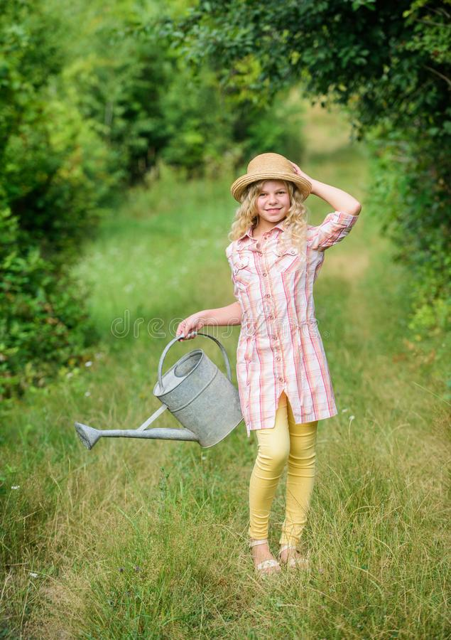 Optimize water use. Measure soil water content temperature and salinity. Spring gardening checklist. Watering plants in stock photography