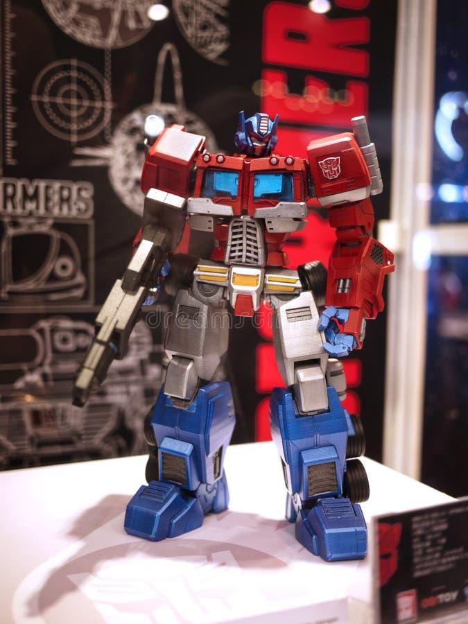 Optimus μετασχηματιστών ΨΥΧΗΣ 2015 ΠΑΙΧΝΙΔΙΩΝ πρωταρχικό στοκ εικόνες με δικαίωμα ελεύθερης χρήσης