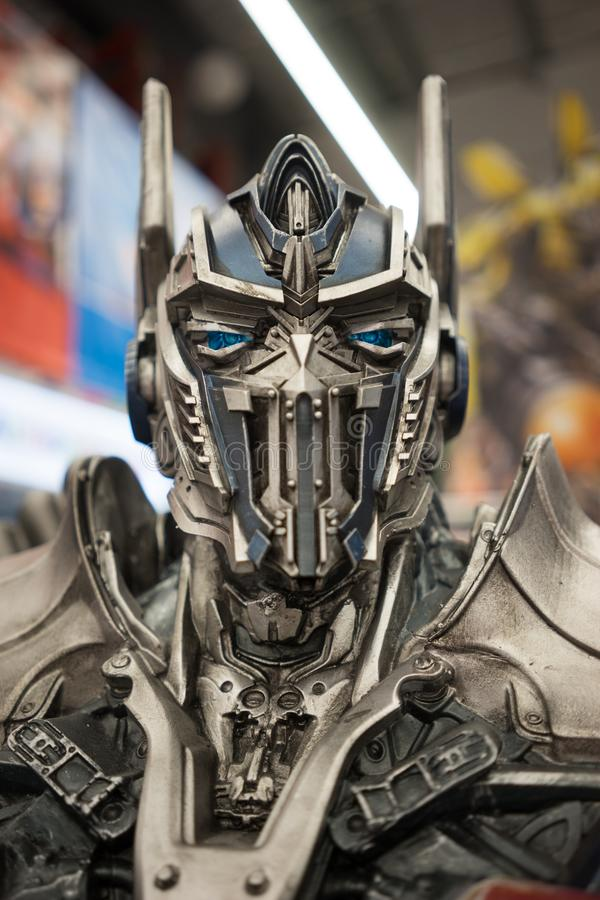 Optimus Prime Transformer Face Portrait stock photography