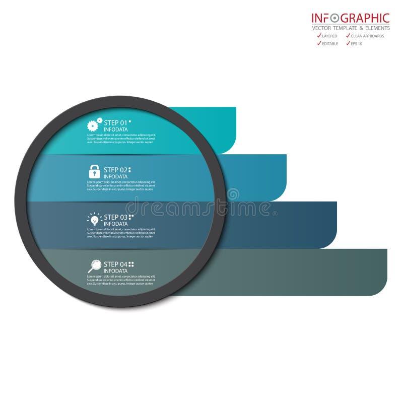 Option abstraite de l'infographics 4 d'élément de vecteur Conception pour le busine illustration libre de droits