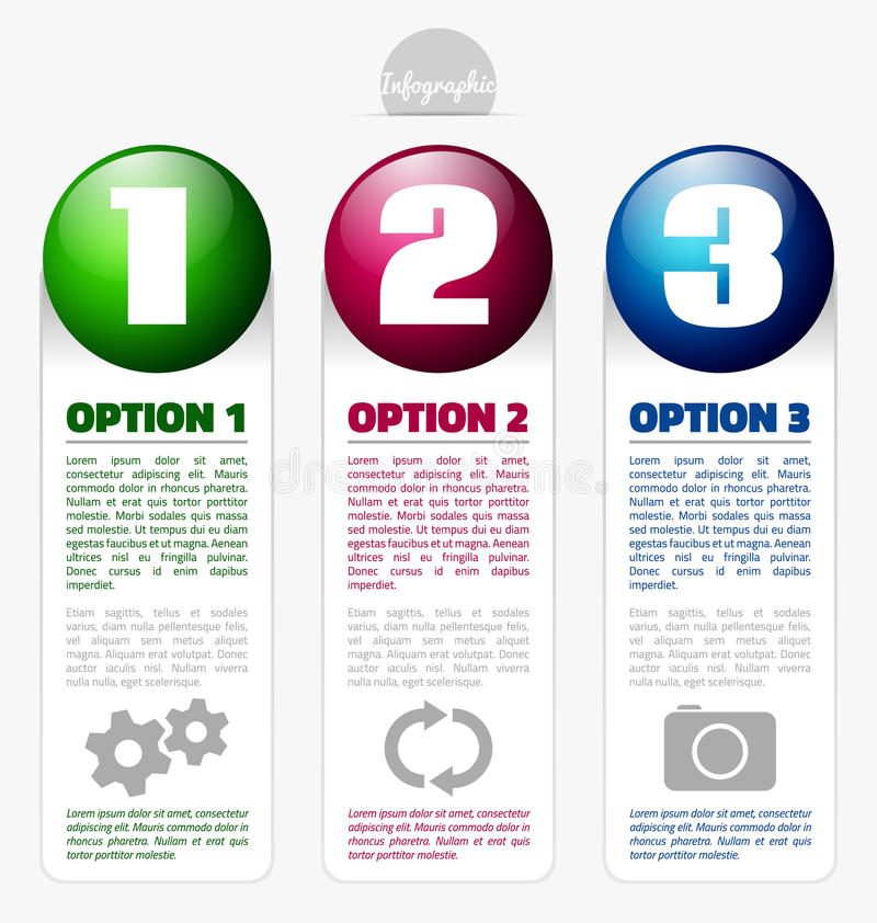 Option banners with place for text royalty free illustration