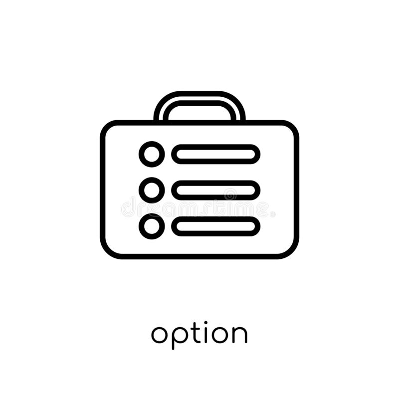 Option icon. Trendy modern flat linear vector Option icon on white background from thin line Business collection royalty free illustration