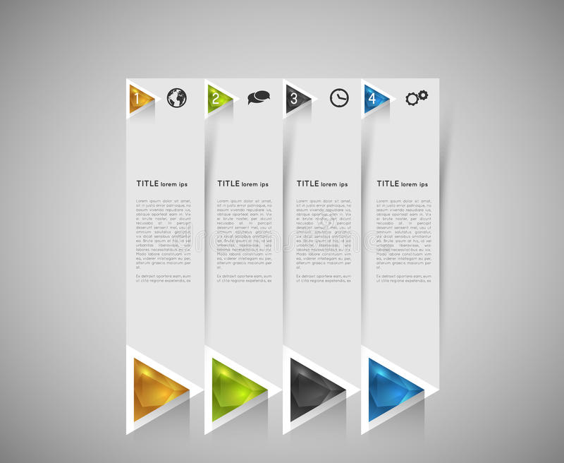 Option infographic banners stock illustration