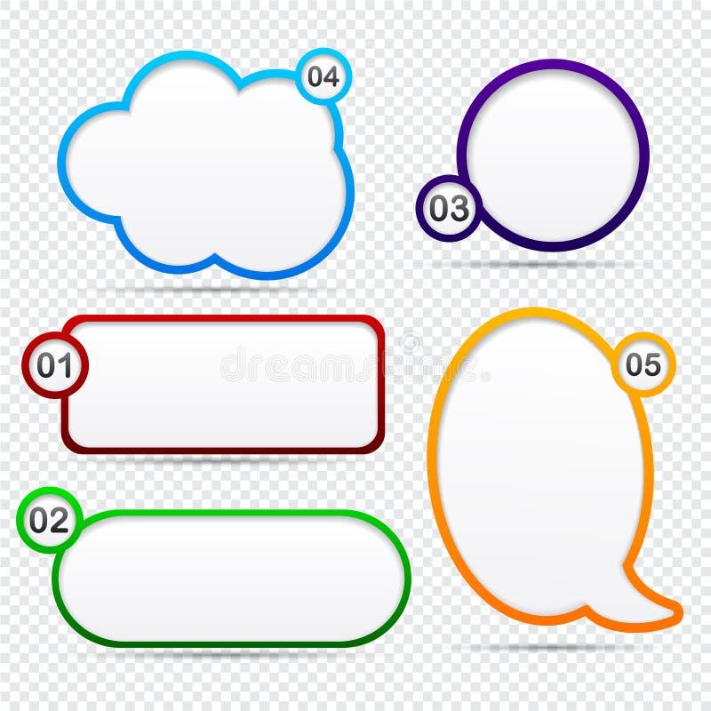 Download Option speech bubbles. stock vector. Illustration of orange - 25833314