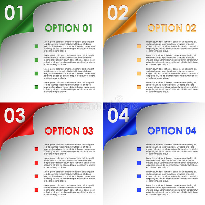 Download Options Of Colorful Bent Corners Background Stock Vector - Image: 32270876