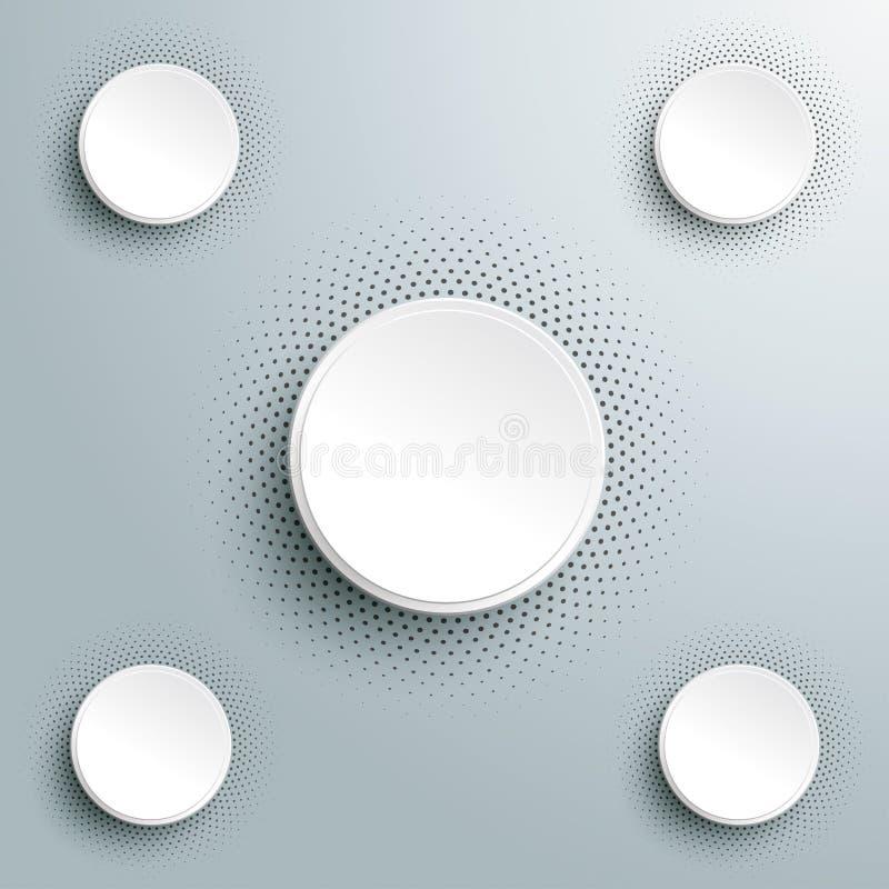 Options de l'image tramée 4 d'Infographic de livre blanc illustration de vecteur