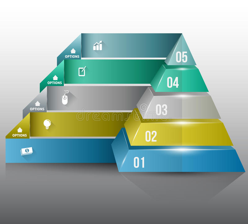 Options de nombre de pyramide illustration libre de droits