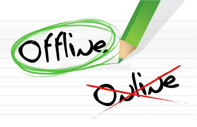 Options en ligne et en différé de sélection illustration libre de droits