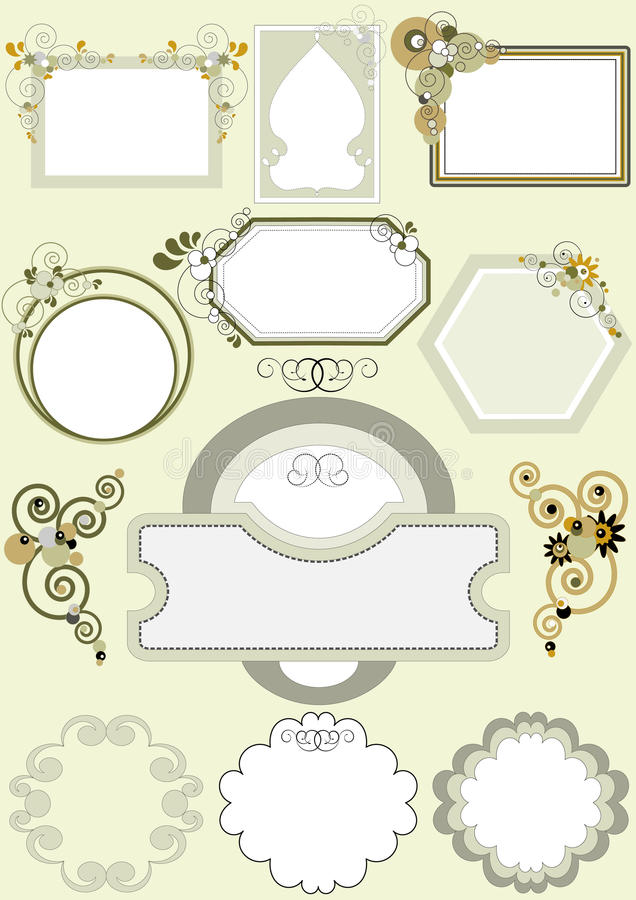 Download Options For Frames With Different Patterns Of Curv Stock Vector - Image: 23434269