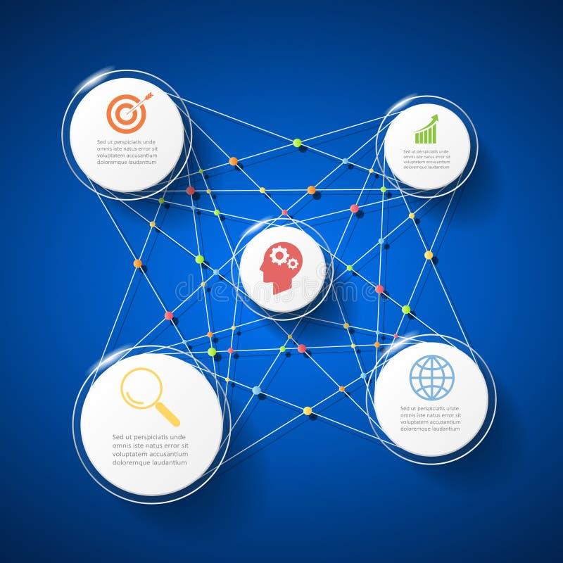 Options infographic du cercle 3d abstrait 5, calibre infographic de concept d'affaires illustration libre de droits