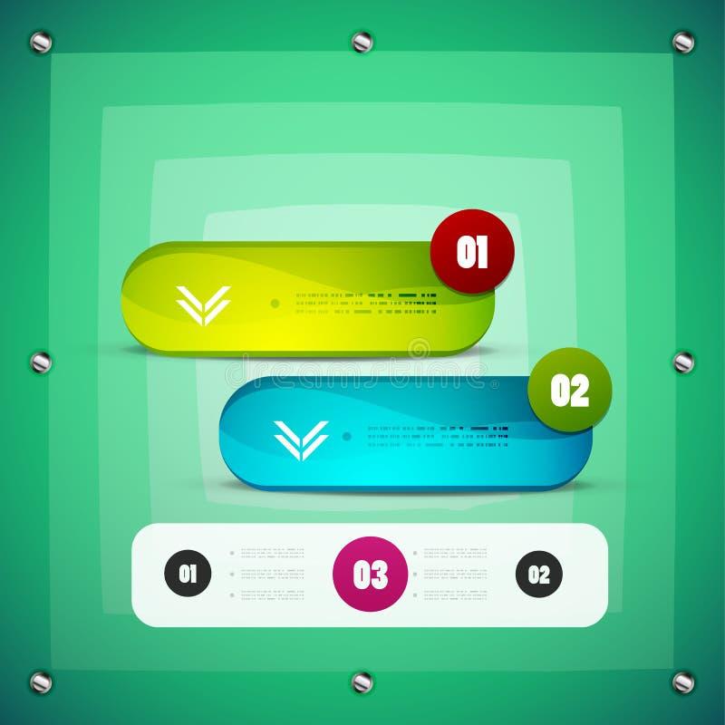 Options steps modern template vector illustration
