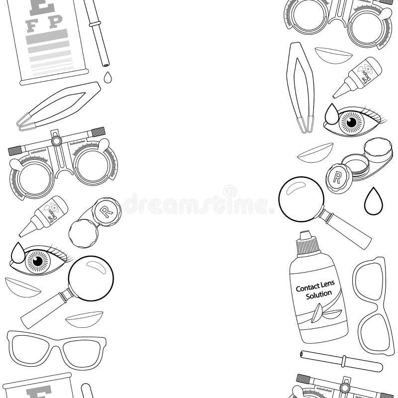 Optique et acuité visuelle illustration stock