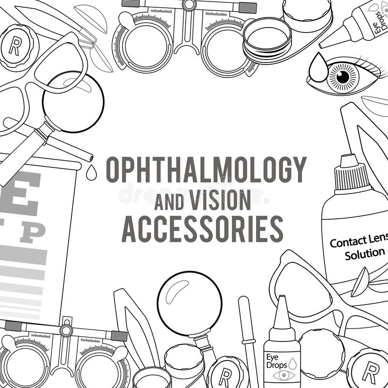 Optique et acuité visuelle illustration libre de droits