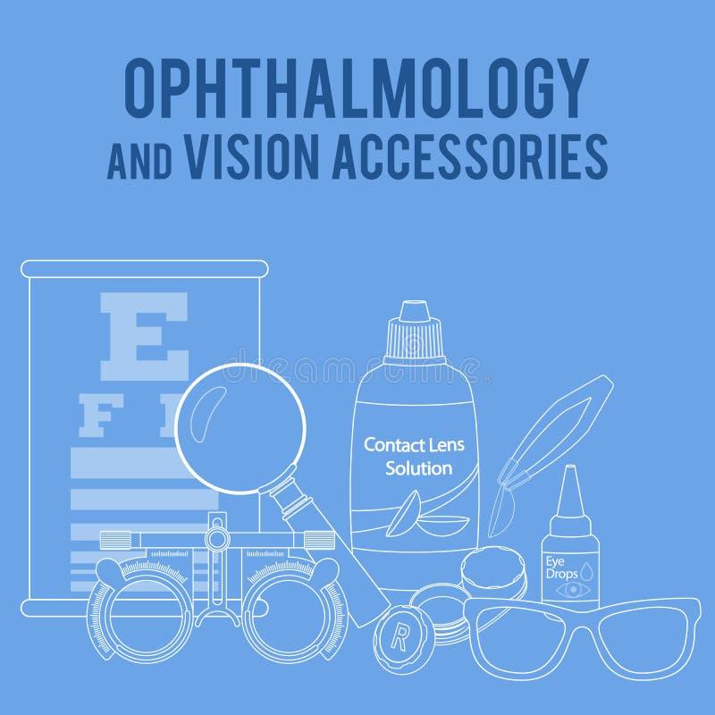 Optique et acuité visuelle illustration de vecteur