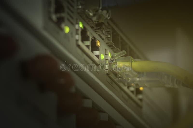 Optique et stockage de fibre de technologie des communications photographie stock libre de droits