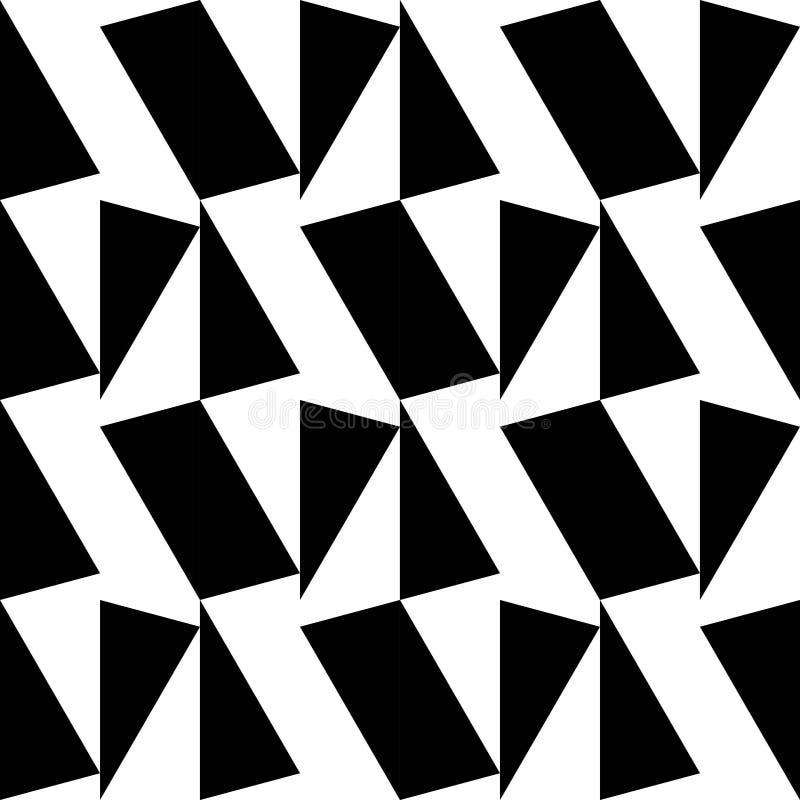 OPTISCH KUNST NAADLOOS VECTORpatroon GEOMETRISCHE SHAPE-TEXTUUR VEELHOEK ZWART-WIT ACHTERGROND royalty-vrije illustratie