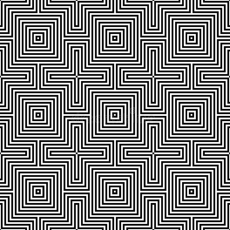 Optisch naadloos patroon illusion.geometric royalty-vrije illustratie
