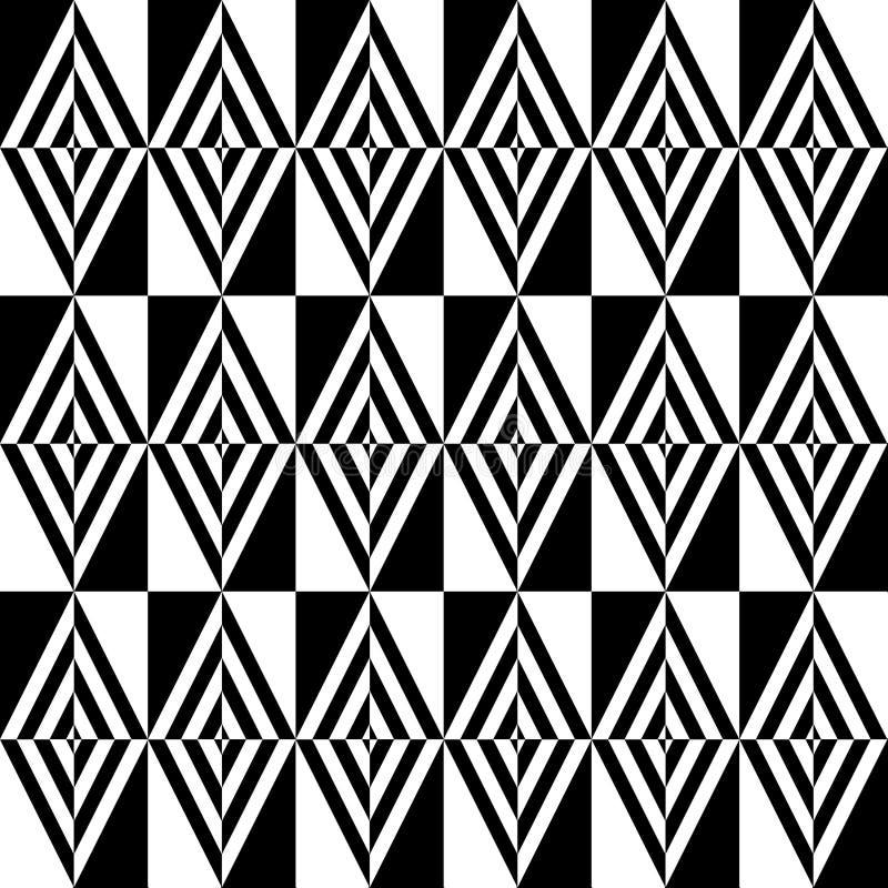 Optisch zwart-wit patroon van ruiten royalty-vrije illustratie