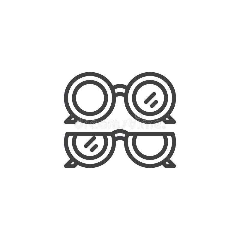 Optische Augenglas-Entwurfsikone lizenzfreie abbildung