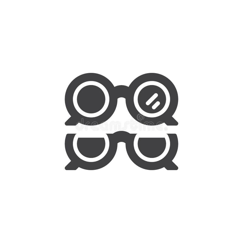 Optische Augenglas-Vektorikone vektor abbildung