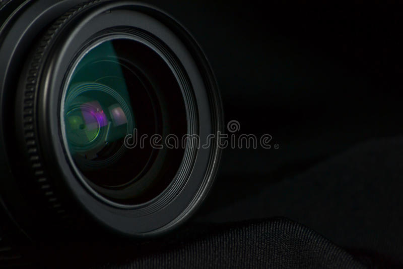Optische cameralens stock fotografie