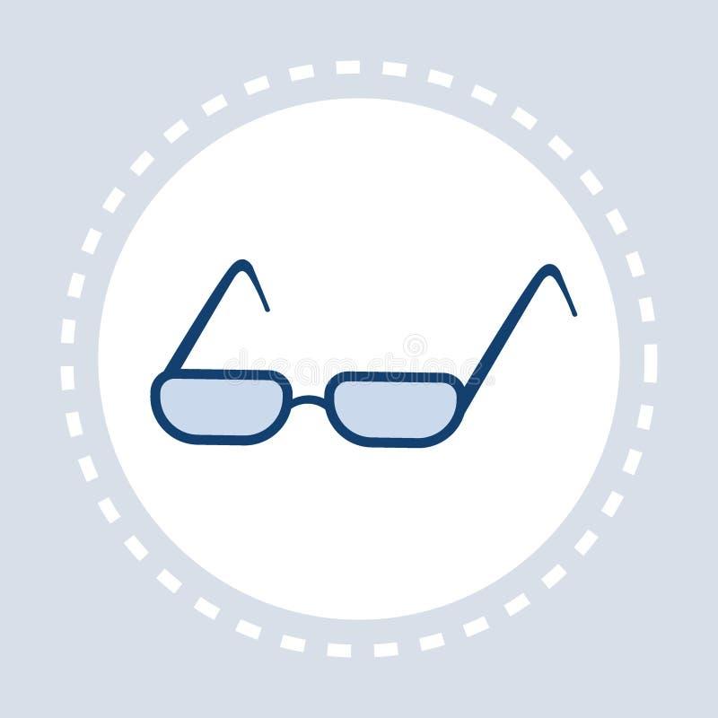Optische elegante Brillen der Augenglas-Ikone flach lokalisiert lizenzfreie abbildung