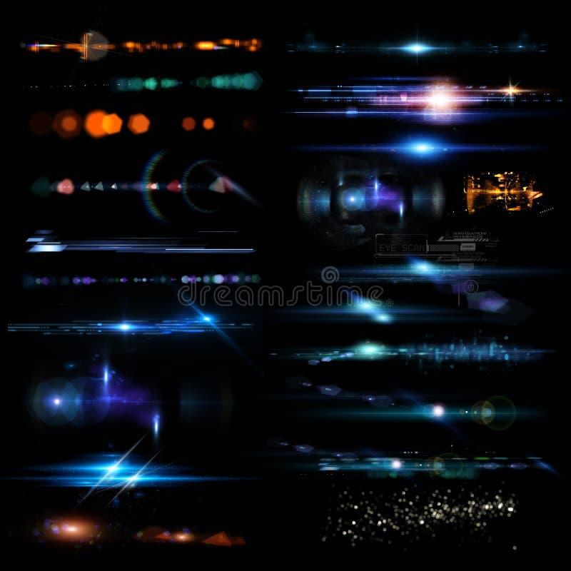 Optische gloed stock afbeeldingen