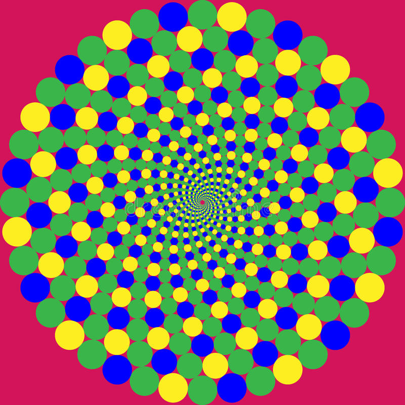 Optische illusie vector illustratie