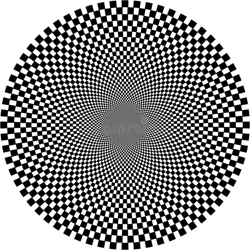 Optische illusie, cirkel royalty-vrije illustratie