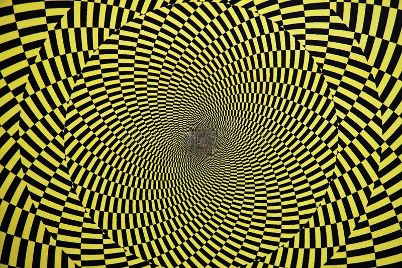 Optische illusie met cirkels royalty-vrije stock afbeelding
