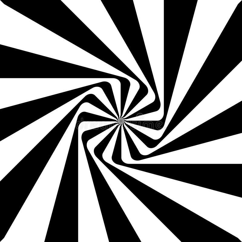 Optische illusie, ronde royalty-vrije illustratie
