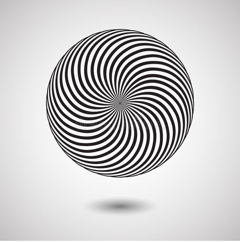 Optische illusieeffect Geometrische tegel in de stijl van het menfispop-art Vector illusive achtergrond, textuur stock illustratie