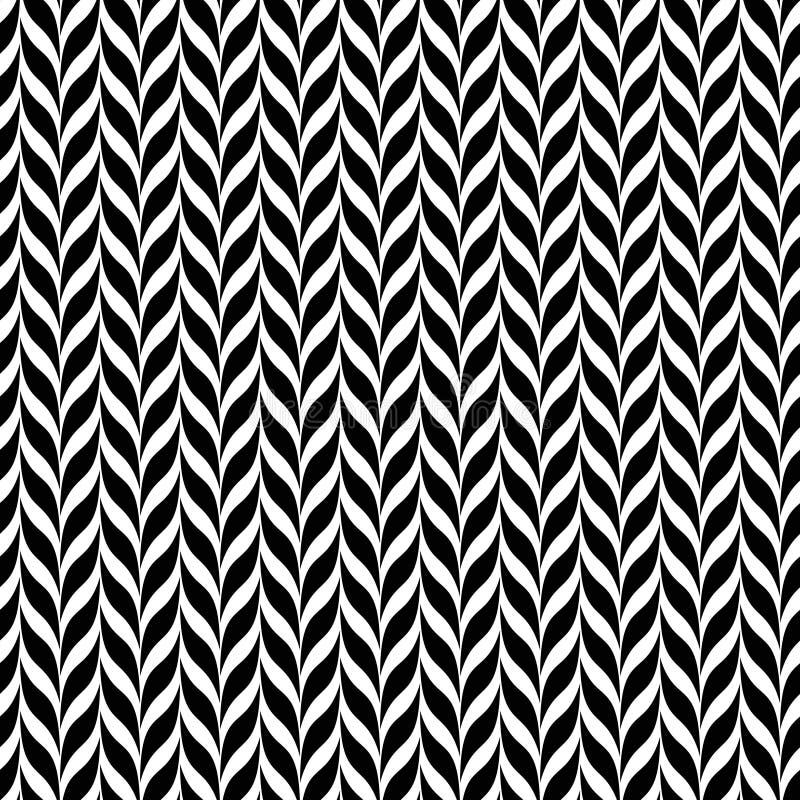 Optische illusietransformatie Zwart-witte abstracte spiraalvormige vectorachtergrond vector illustratie