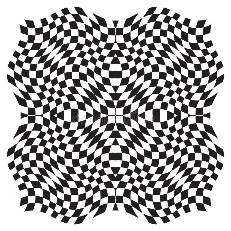 Optische Illusion-Hintergrund stock abbildung