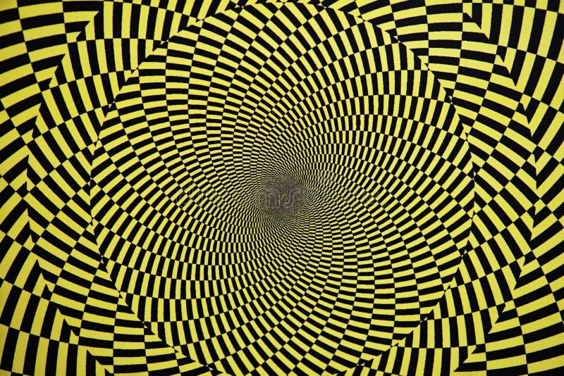 Optische Täuschung mit Kreisen lizenzfreies stockbild