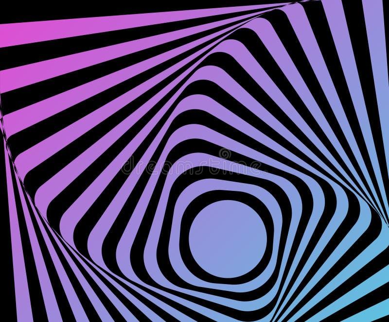 Optische vervormde illusie vector illustratie