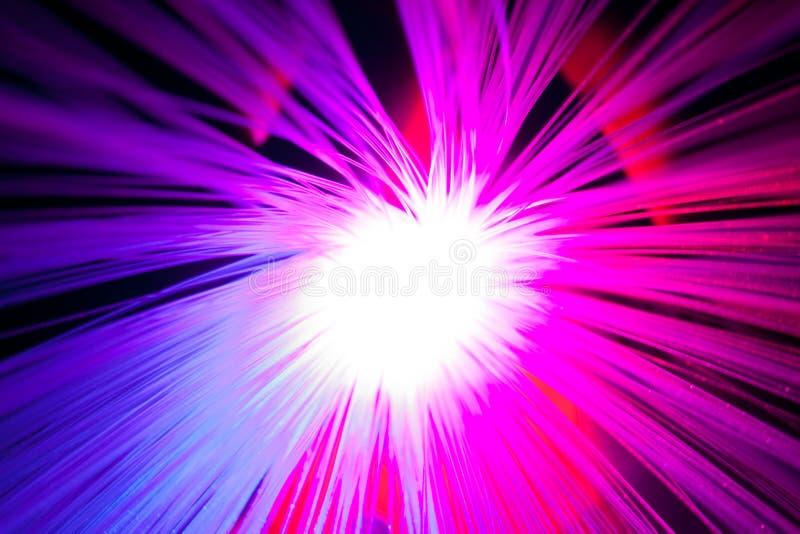 Optische vezels royalty-vrije stock afbeeldingen