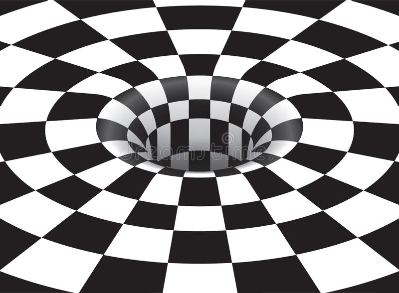 Optischer Art Vortex stock abbildung