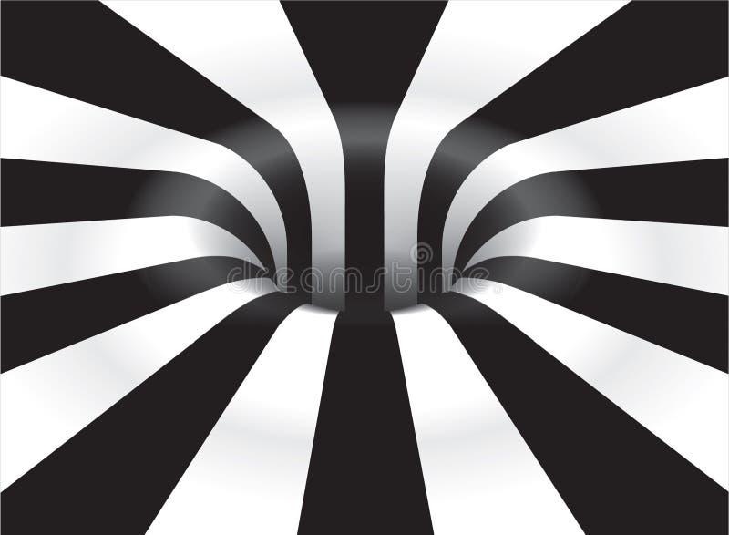 Optischer Art Vortex vektor abbildung