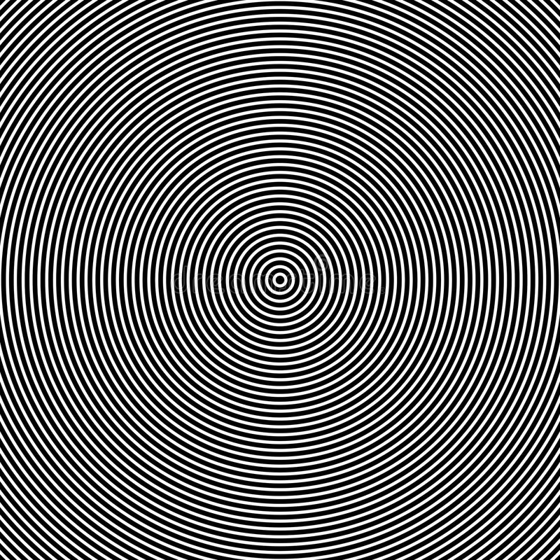 Optischer Effekt der konzentrischen Kreise vektor abbildung